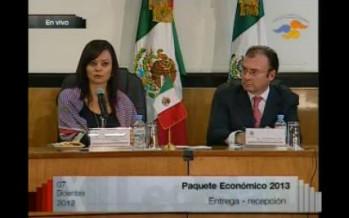 SHCP ENTREGA PAQUETE ECONÓMICO 2013