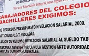 AMENAZAN CON HUELGA TRABAJADORES DEL COLEGIO DE BACHILLERES