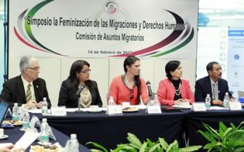 FIRMAN EN EL SENADO DECLARATORIA A FAVOR DE LOS DERECHOS HUMANOS DE LAS MUJERES MIGRANTES
