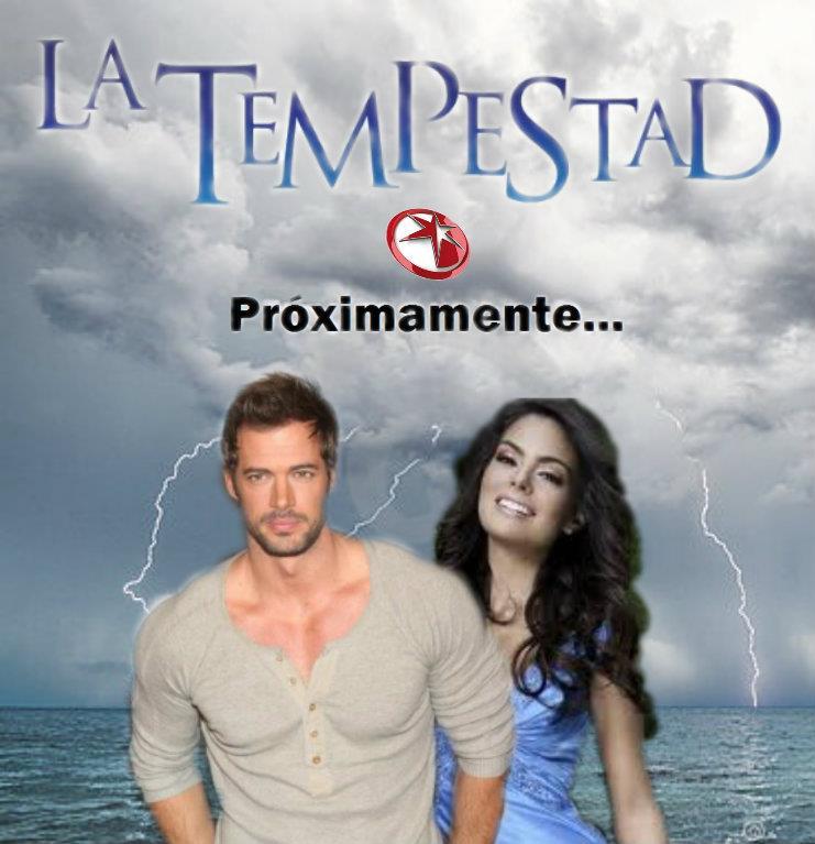 """... de audiencia de su telenovela """"La tempestad"""", protagonizada por"""