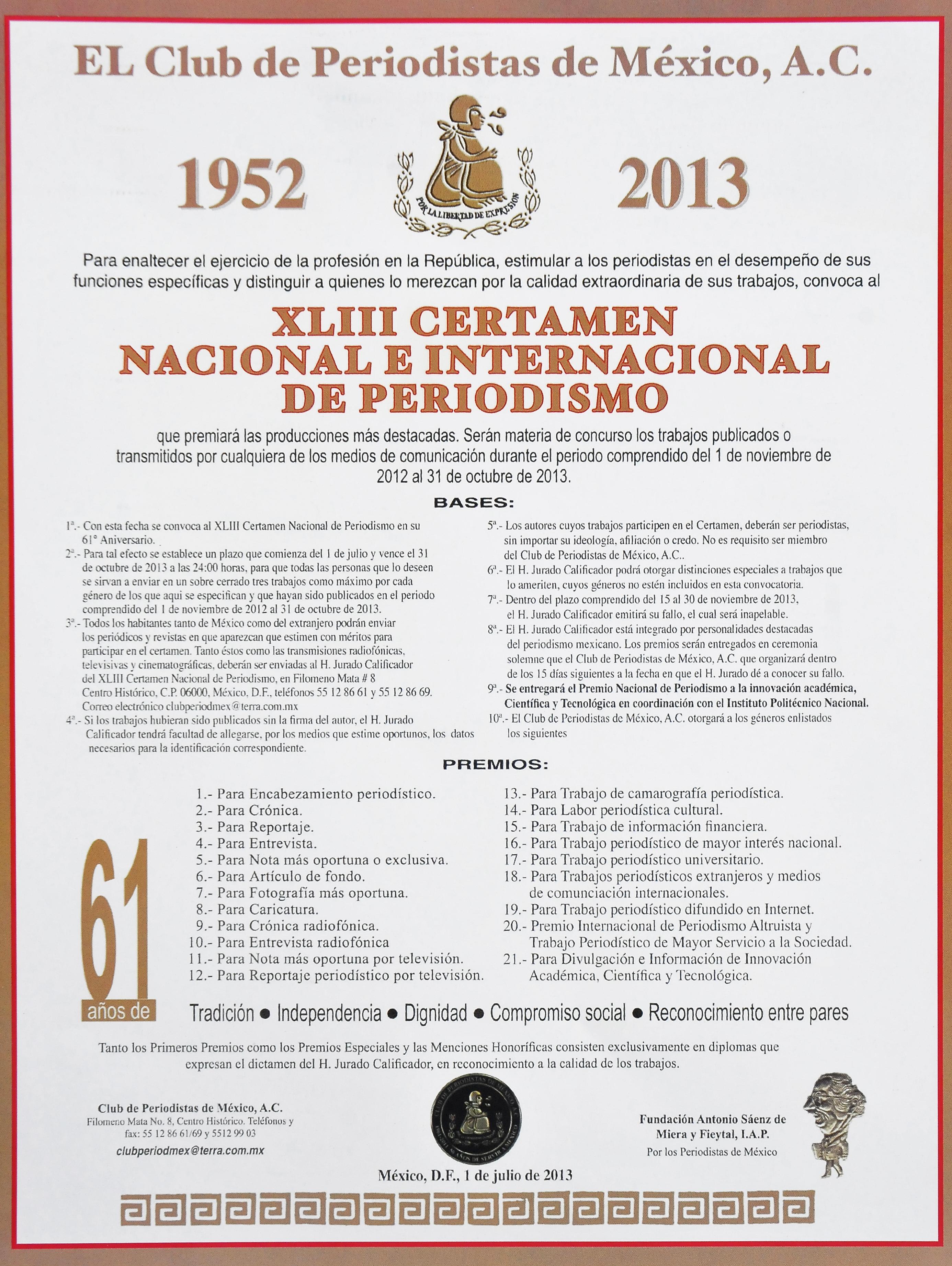 Convocatoria 2013