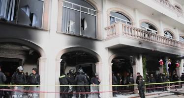 Habitantes incendian la alcaldía de Huehuetoca