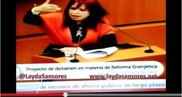 Manda Layda Sansores a los senadores a privatizar a su progenitora VIDEO
