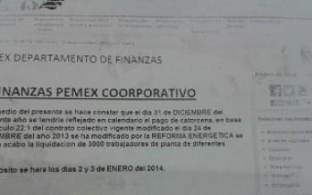 Inician los recortes de personal en PEMEX por la Reforma Energética. Tres mil trabajadores serán despedidos.
