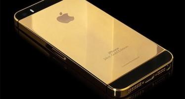 Iphone revestido en oro y diamantes no es suficiente, lanzan uno de oro macizo.