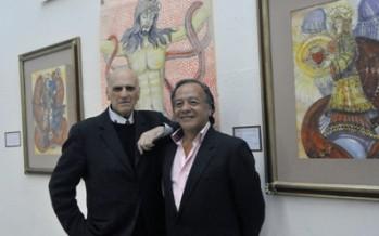 Con la obras de Guillermo Robles y Jorge Aranda se rinde homenaje a Pita Amor y Rosa Chacón en el Club de Periodistas de México.