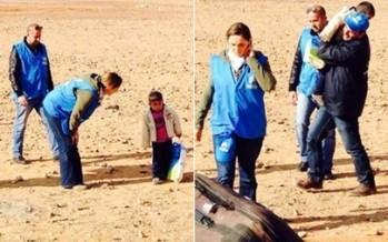 Niño sirio de tan solo cuatro años de edad es encontrado caminando solo en el desierto de Jordania