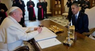 Se reúnen Obama y el Papa Francisco, hablarán sobre migración entre otros temas.