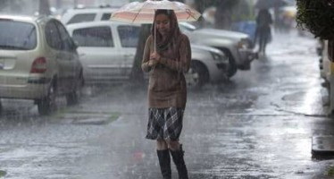 Continuarán lluvias y granizo en diversas zonas del país