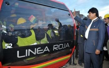 Bolivia inaugura la red de teleféricos urbanos más alta del mundo