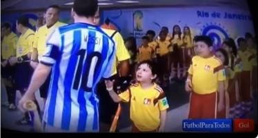 Messi no regresó para saludar al niño ignorado