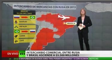 Cooperación entre Brasil y Rusia en cifras y datos