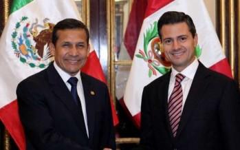 Peña Nieto dio la bienvenida al presidente de Perú