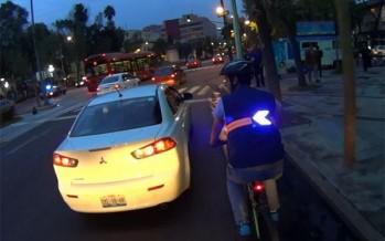 Desarrollan chaleco de señalización luminoso para seguridad de ciclistas