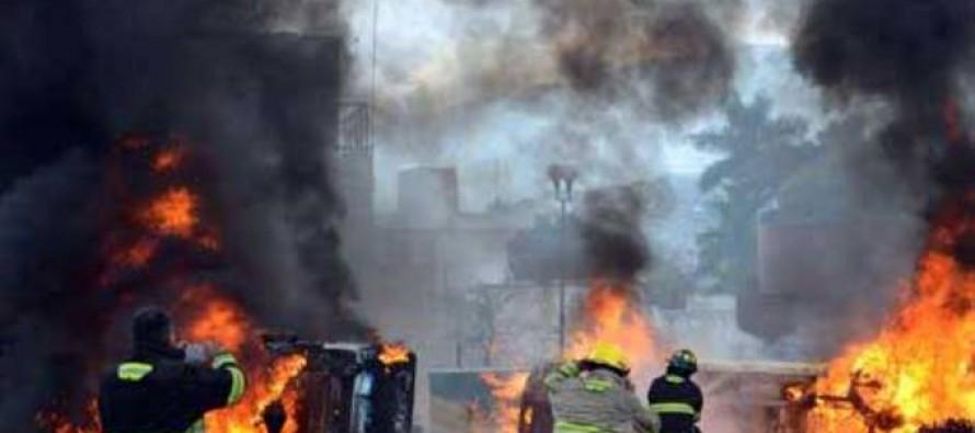Federales y la Ceteg y estudiantes se enfrentan en Guerrero; 22 heridos