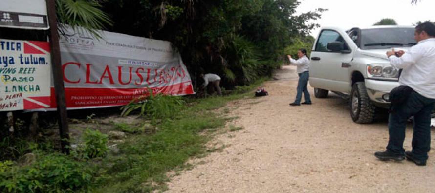 Clausuran 9 proyectos turísticos ubicados en área protegida de Tulum