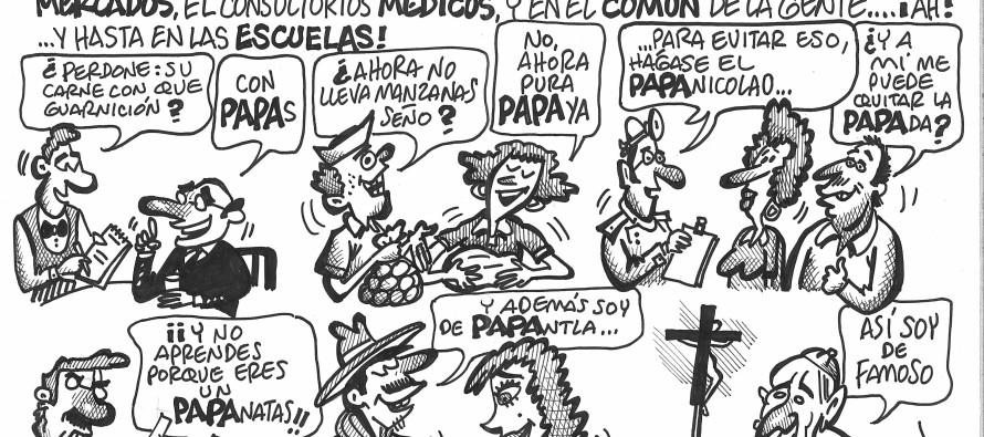 El tema de la visita del Papa y las aspiraciones a gobernador de diversos personajes de la política, vistos con el humor de Luis Xavier.