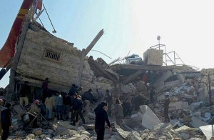 Hospital bombardeado en Siria