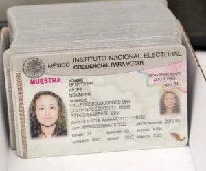 INE credenciales para votar