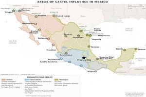 Mapa del Informe de Startfor sobre expansión de nuevo  cártel