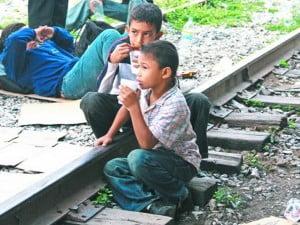 Niños que emigran