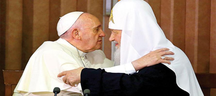 Papa Francisco y Patriarca Kiril firman un acuerdo contra la persecución de cristianos en Oriente Medio