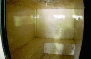 Saunas en el penal de Topo Chico