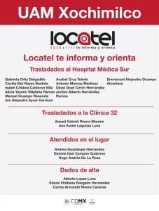locatel informa de lesionados explosión en UAM Xochimilco