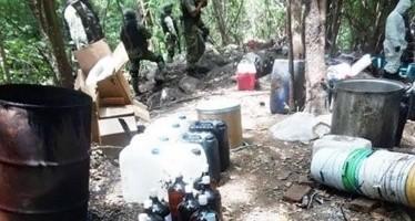 PGR desmantela narco-laboratorio en la Costa Grande de Guerrero