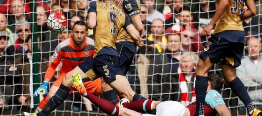 Arsenal a años luz del campeonato tras empatar ante West Ham