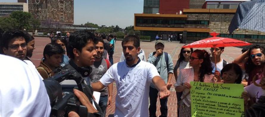 Estudiantes piden la devolución del auditorio Justo Sierra o Che Guevara