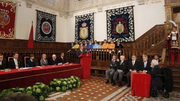 El paraninfo de la Universidad de Alcalá de Henares fue el escenario de la entrega del premio