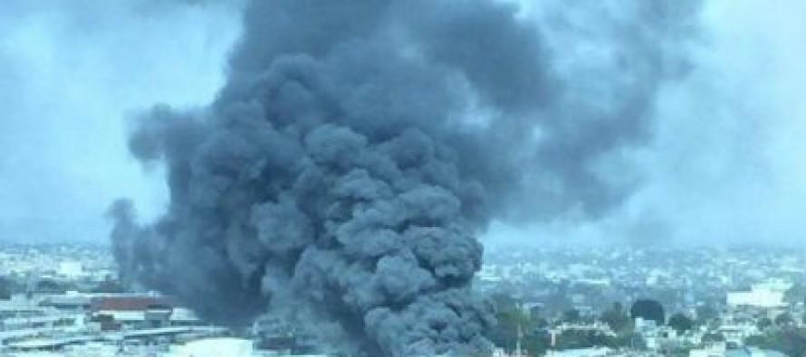 Se incendia mercado de abastos en Jalisco