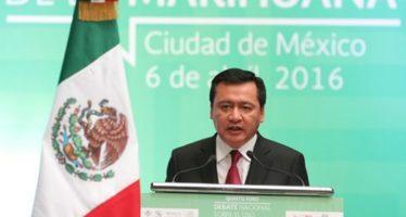 Que se apruebe cuanto antes la reforma sobre la marihuana, pidió Osorio Chong