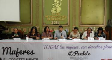 Foro Mujeres al Constituyente, de Morena, continúa con los trabajos hacia la nueva Constitución capitalina
