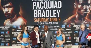 Esta noche, ante Bradley, podría ser la última pelea de Pacquiao