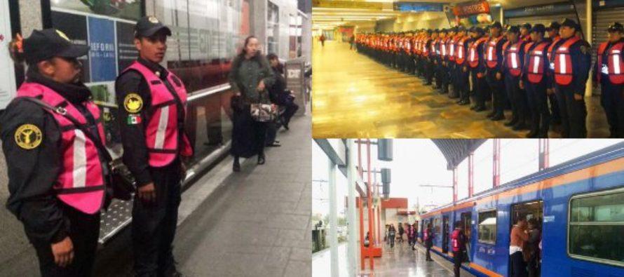 Aplican operativo para dar seguridad a mujeres en el transporte público de la CDMX