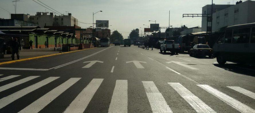 Rehabilitan el Eje 1 Norte desde Reforma hasta Comonfort