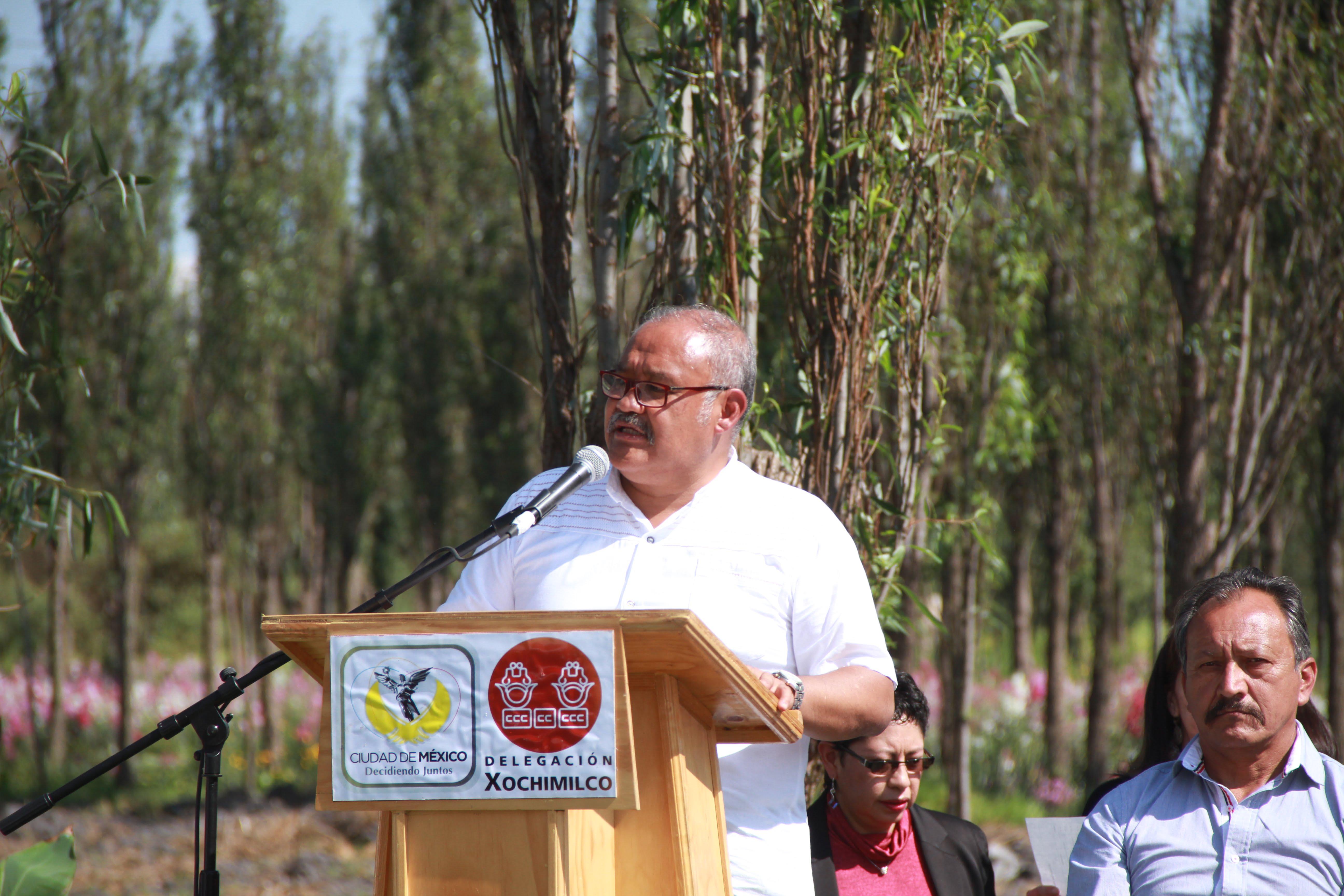 El delegado de Xochimilco clausuró la obra
