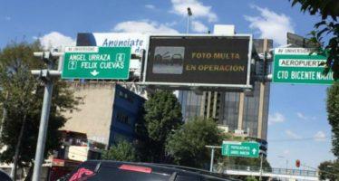 Autoridades aún no solucionan el tema de las fotomultas a autos foráneos