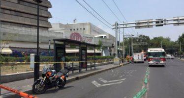 Caos en Plaza del Metro Zapata por fuga de gas; cierran líneas del Metro