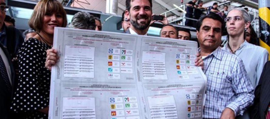 Reparte el INE más de 8 millones de boletas para la elección de los Constituyentes