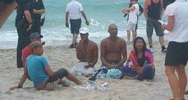 Balseros cubanos llegan a la costa de Florida tras nueve días en el mar