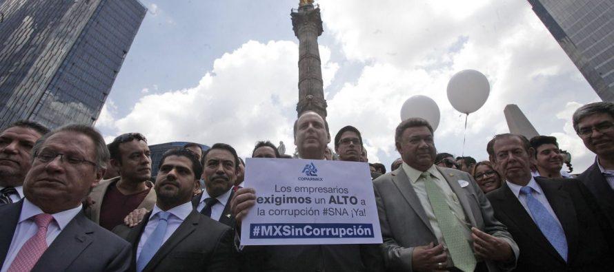Se manifestaron en la Columna de la Independencia: Los empresarios también protestan