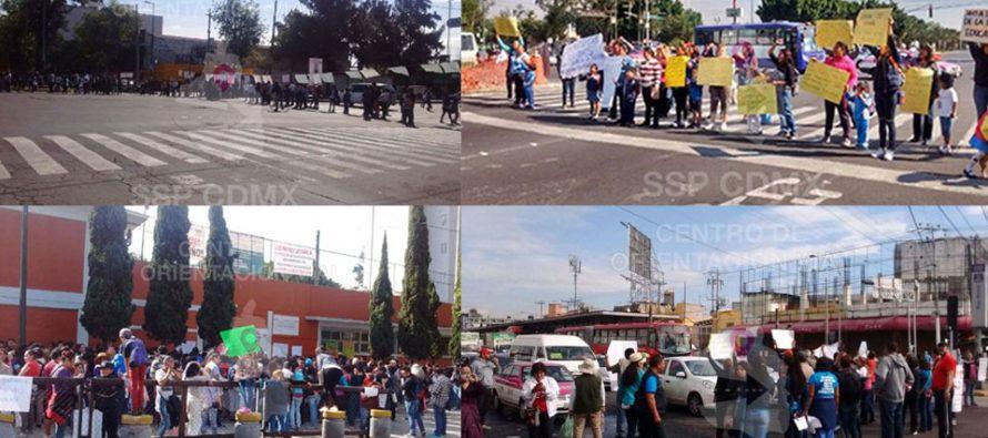 CNTE paraliza a la Ciudad de México con 33 bloqueos en vialidades