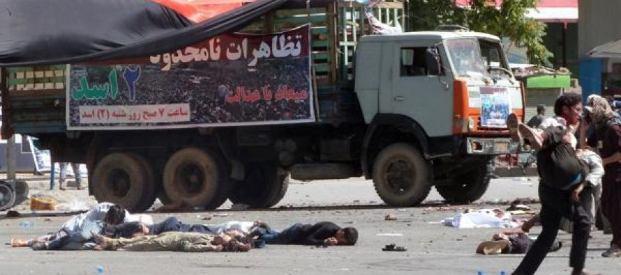 Atentado explosivo en Kabul deja al menos 80 muertos