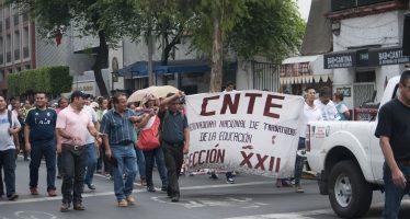 La CNTE realizó más bloqueos en vialidades de la CDMX