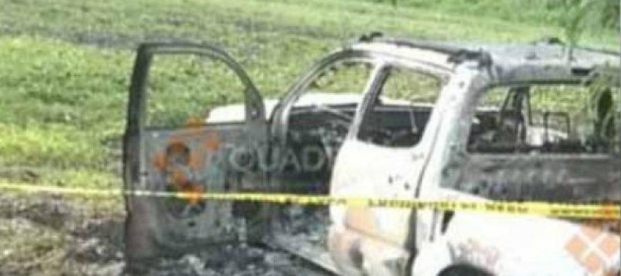 Nueve personas son halladas calcinadas en Michoacán