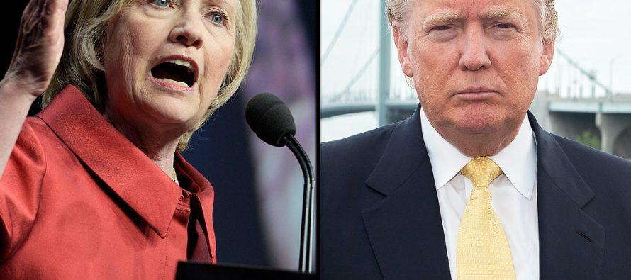 Hillary Clinton aventaja a Donald Trump de acuerdo con encuestas de opinión