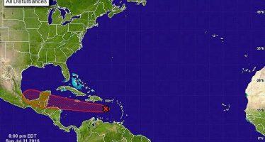 Alerta Servicio Meteorológico Nacional sobre inestabilidad ciclónica rumbo a Yucatán